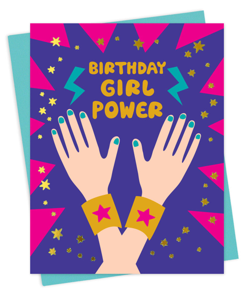 girl power birthday card