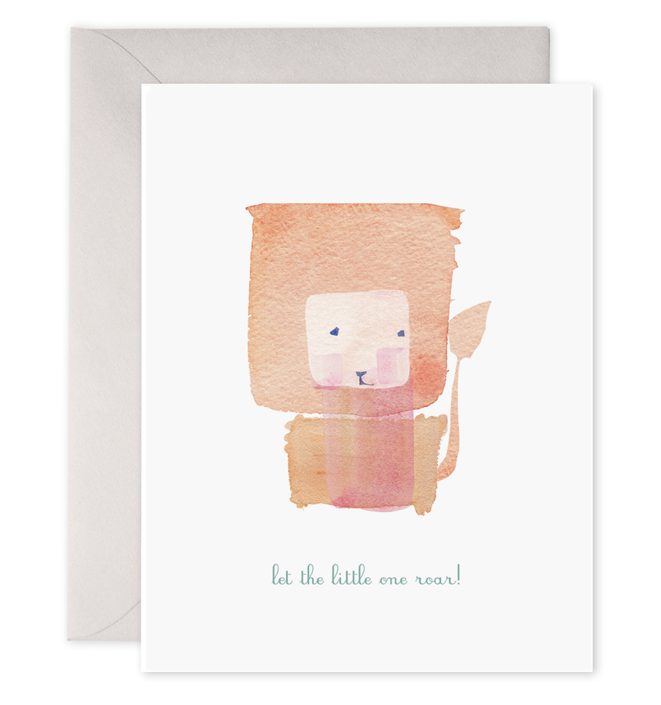 let the little one roar! baby card