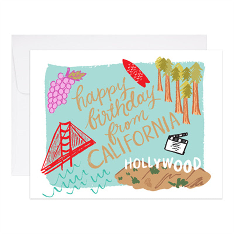 birthday from california card