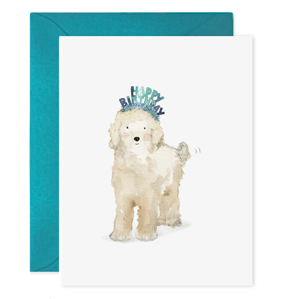 lucy dog birthday card