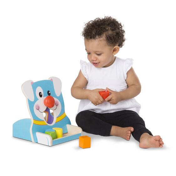 spin & feed shape sorter toy