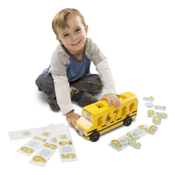 number matching math bus toy