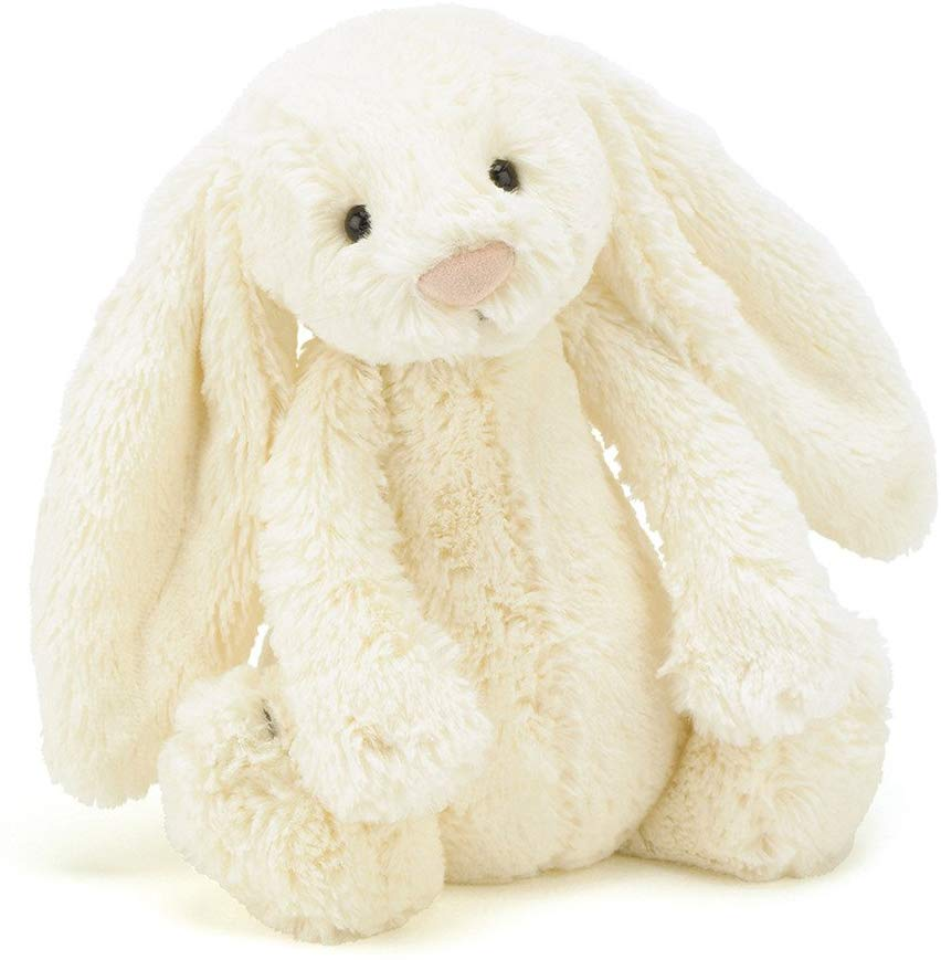 bashful cream bunny stuffed animal med