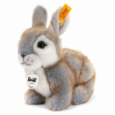 Steiff Happy Grey Rabbit Stuffed Animal