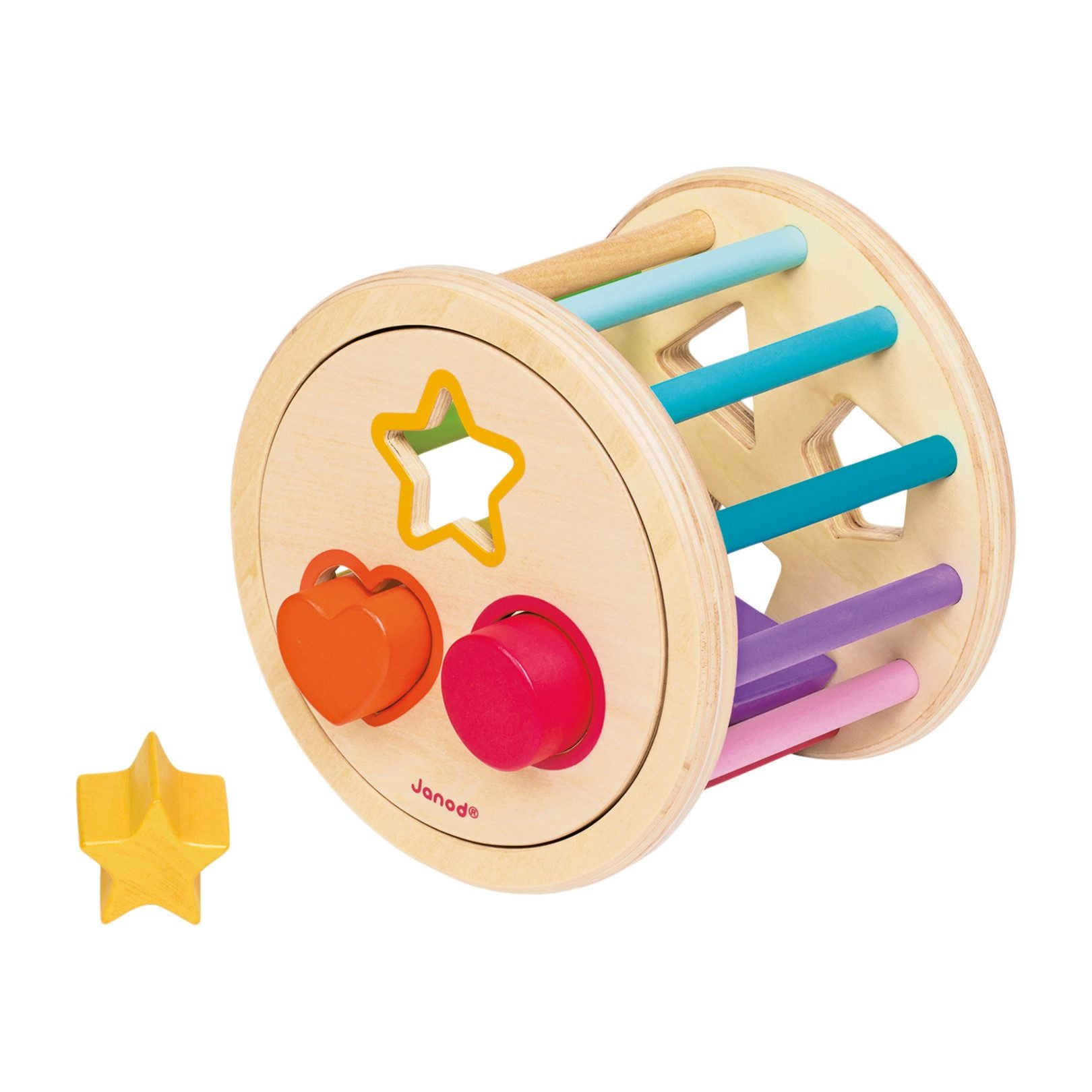 wood shape sorter drum