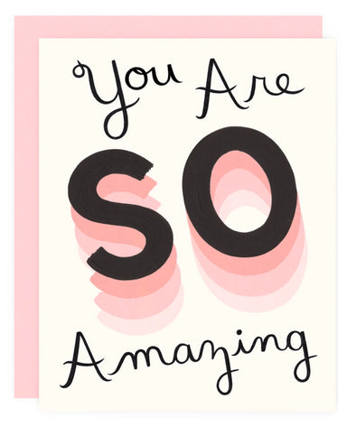 you're so amazing card