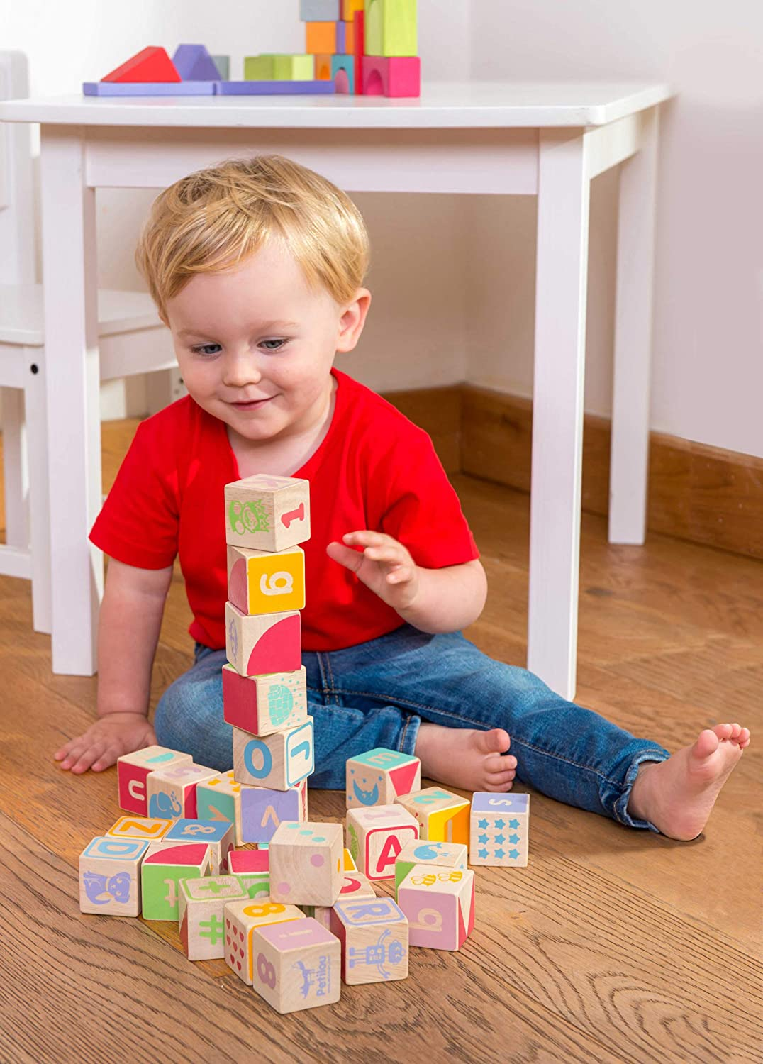 abc and more wooden blocks