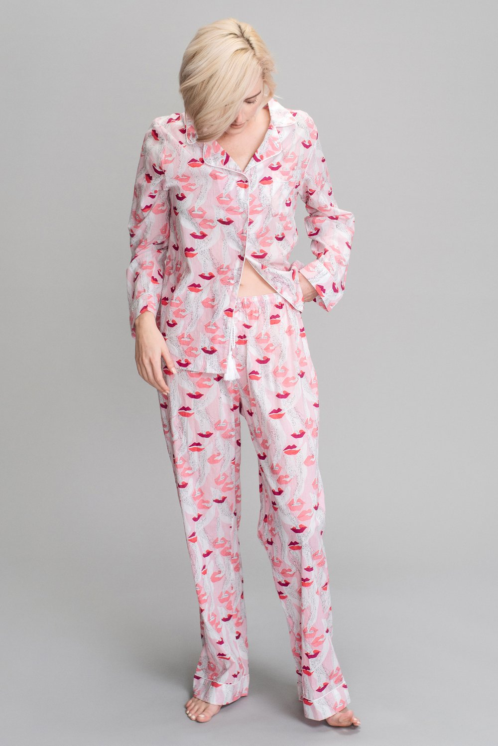 pink smoking lips PJs S