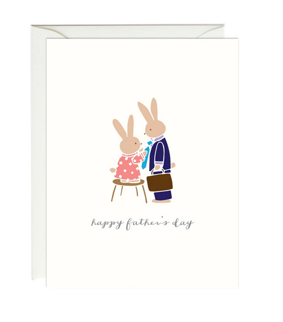 bunny father's day card