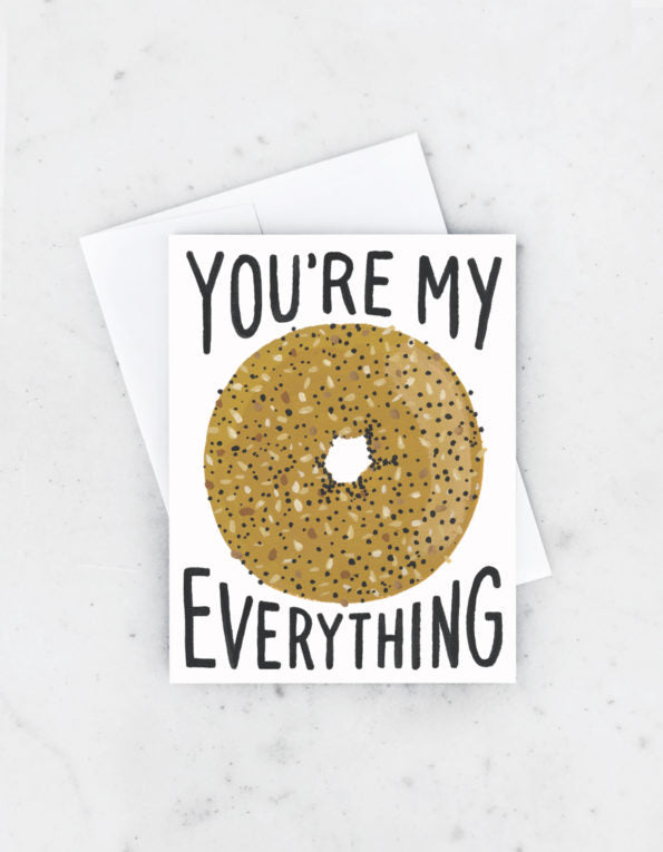 everything bagel love card