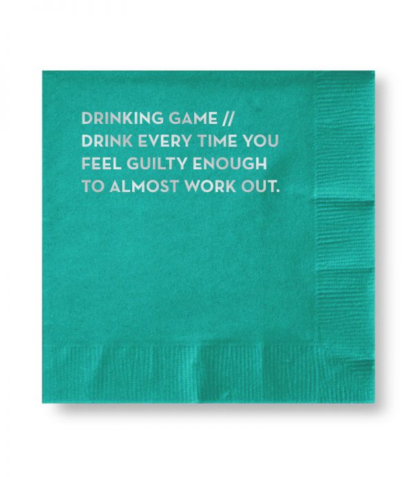 drinking game napkins