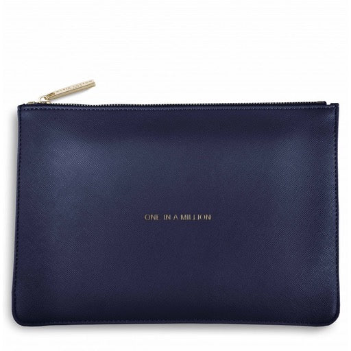 """one in a million''- navy pouch"