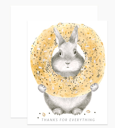 everything bunny thank you card