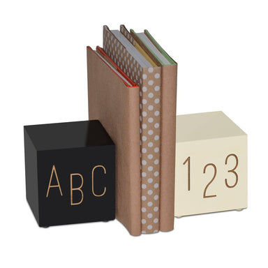 Black & White ABC123 Bookends