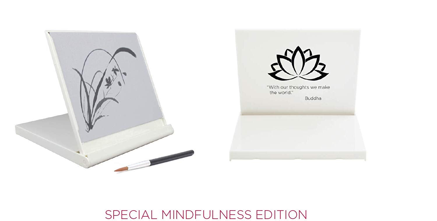 white mini buddha board
