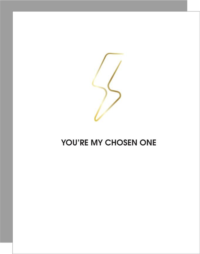 chosen one-lightning bolt paperclip card