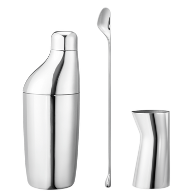 shaker, stirring spoon & jigger giftset
