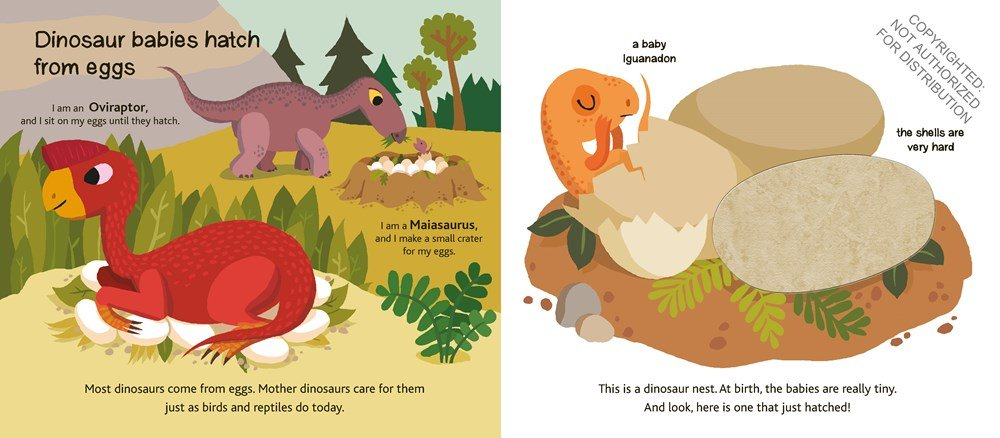 dinosaurs touch & explore book