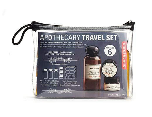 weekender apothecary travel set