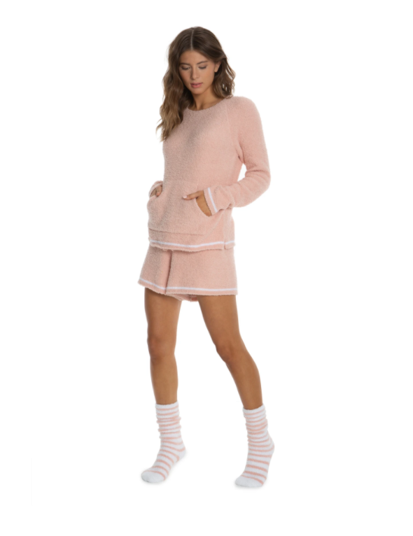 cozychic 3 piece lounge set peach s/m