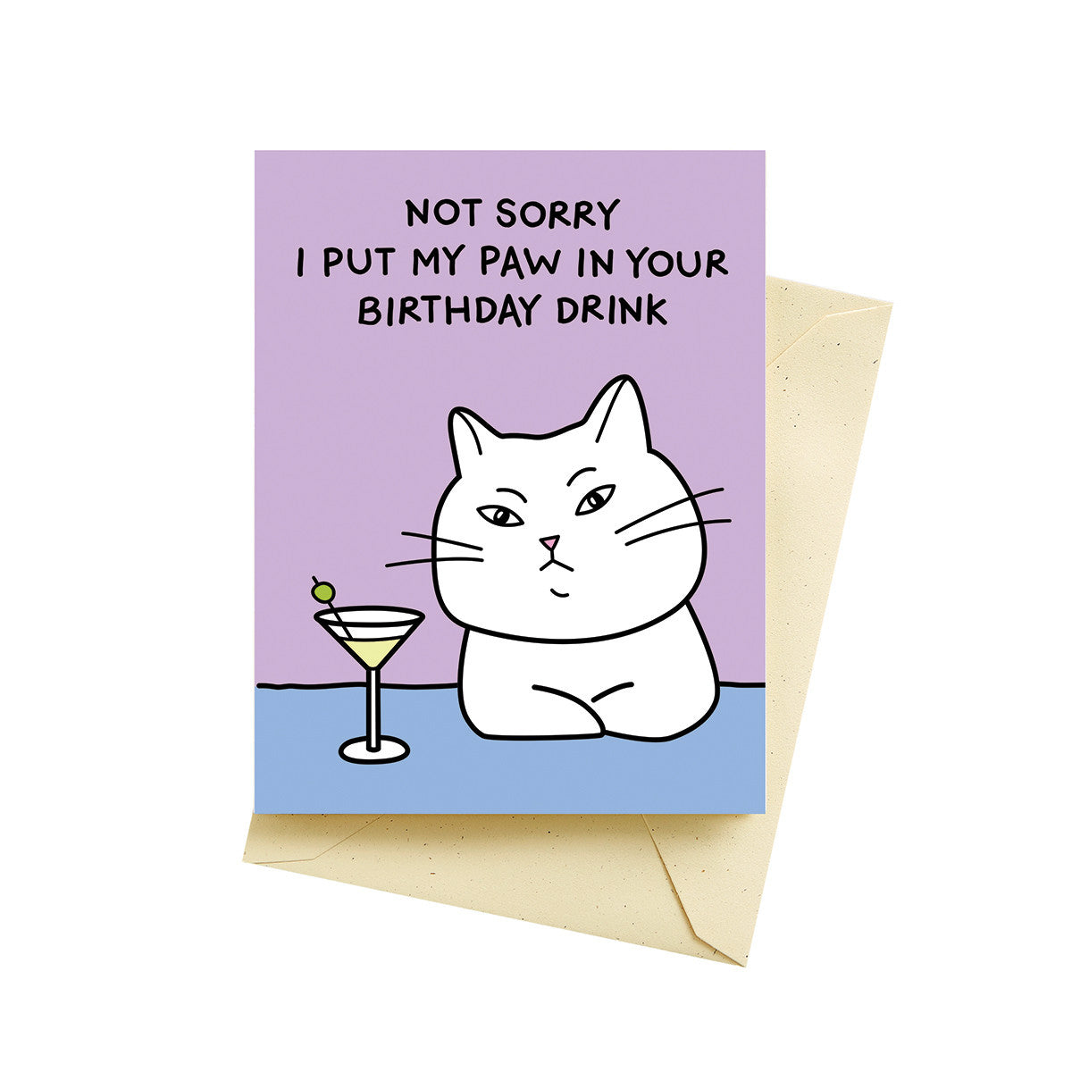 cat martini card
