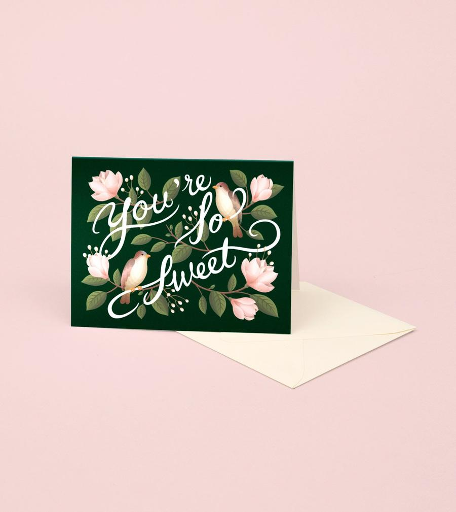 birds + magnolias thank you card