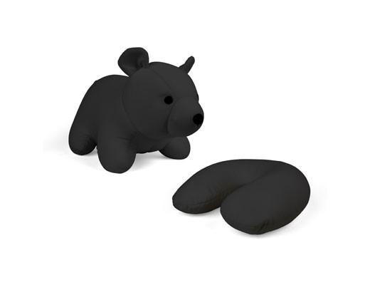 zip & flip black bear travel pillow