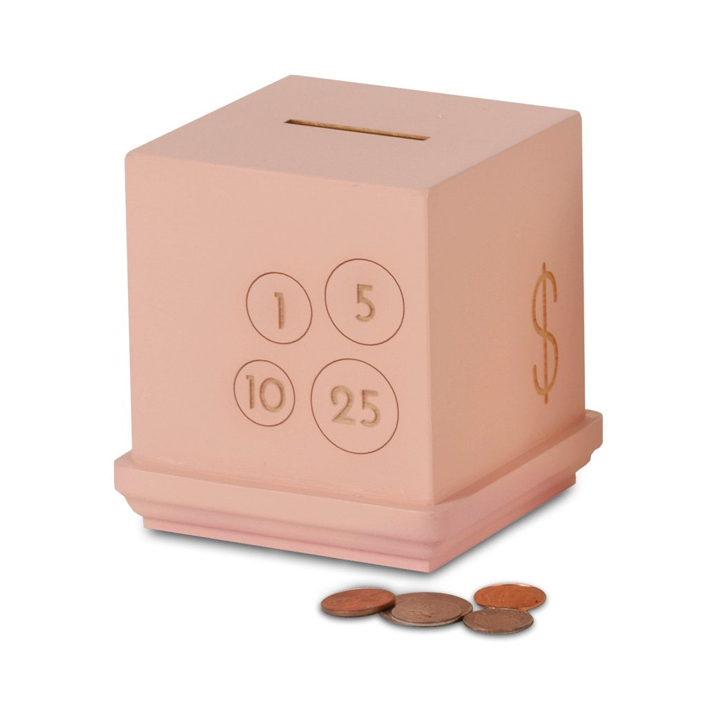 Pink Modern Cents Bank