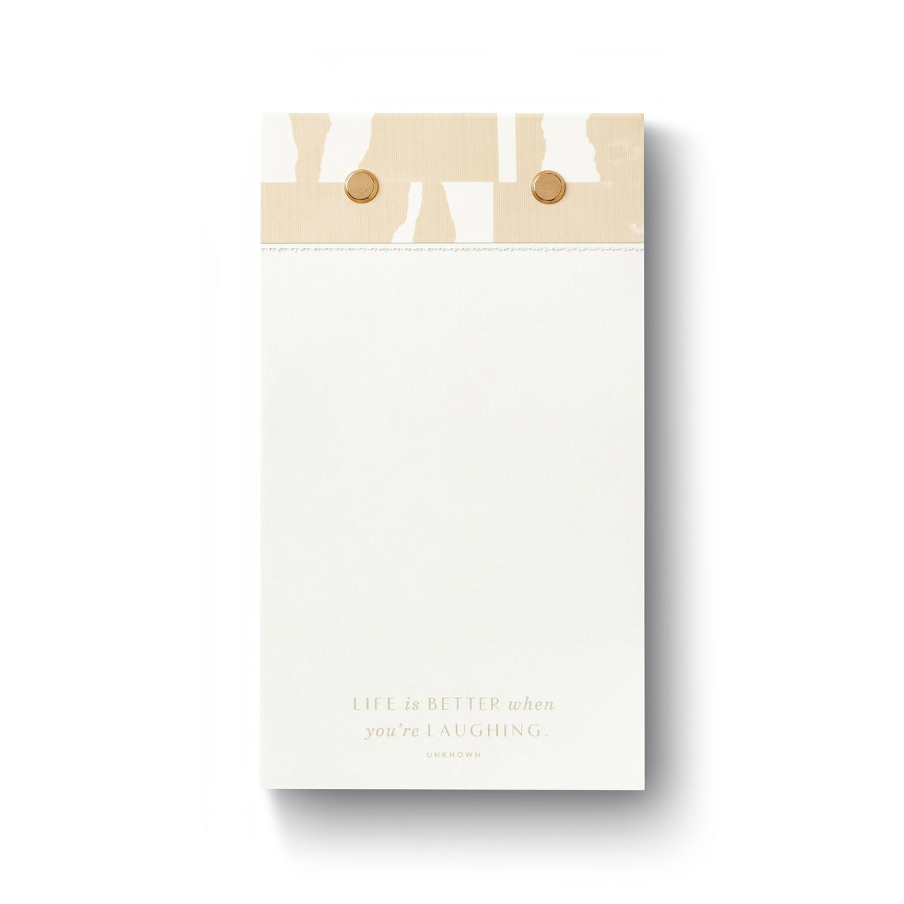 life is better when you're laughing note pad