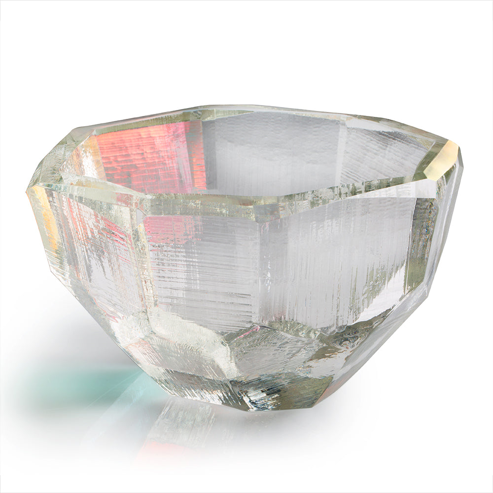 Crystal Luster Multi-Faceted Bowl 7""