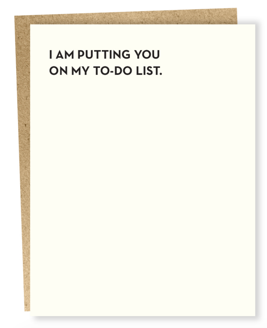 to-do list card