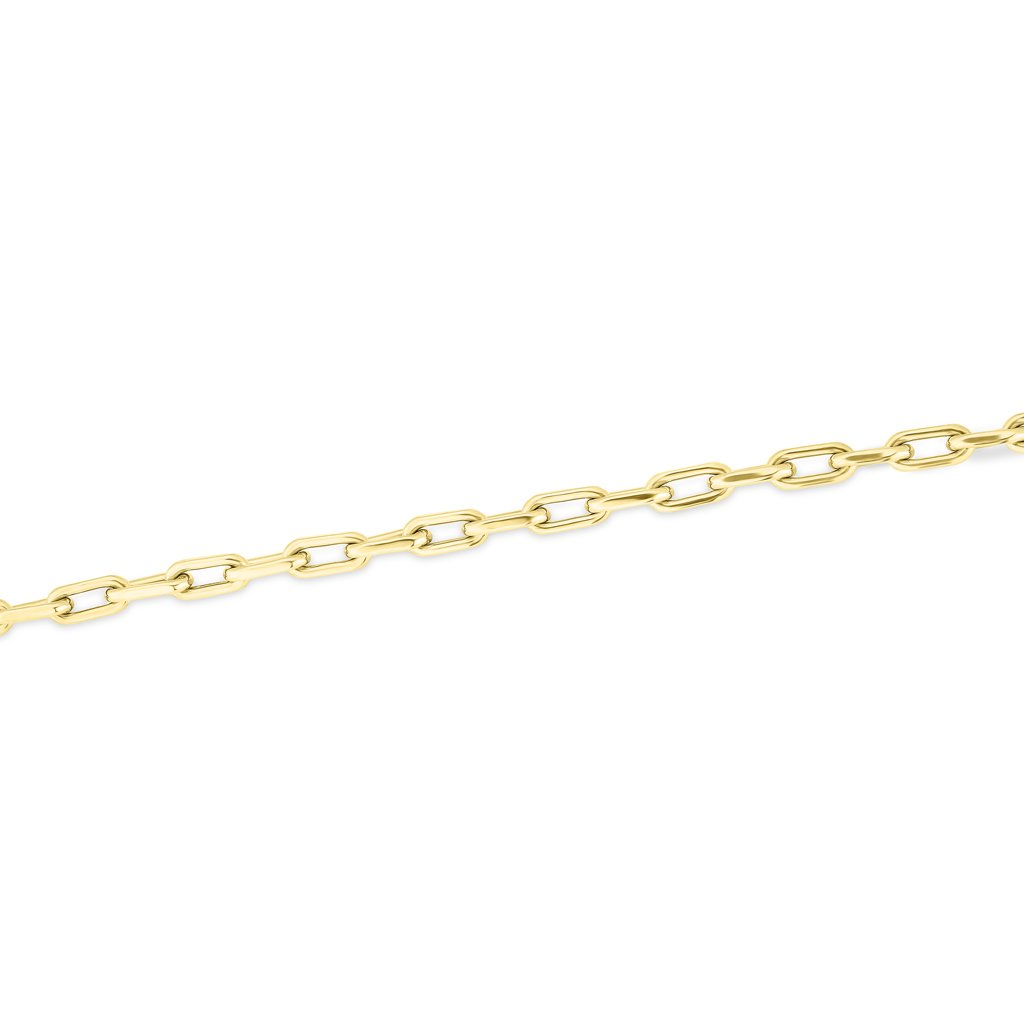 14KT yellow gold chain link lillian bracelet
