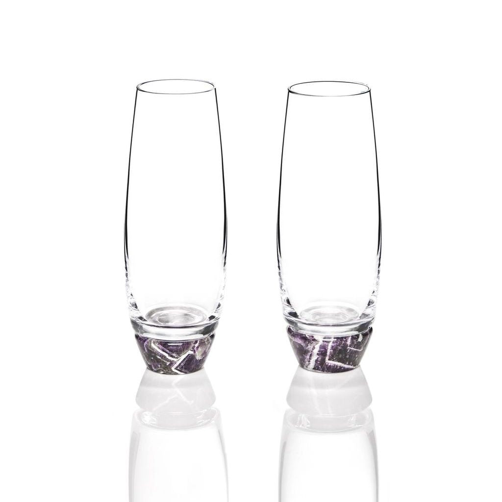 amethyst champagne glasses s2