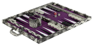 Snakeskin Backgammon Set