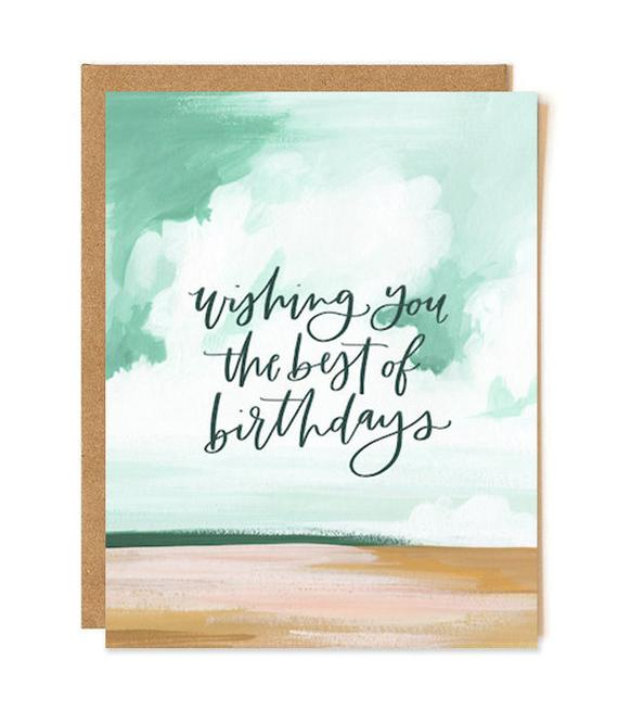 best birthday landscape card