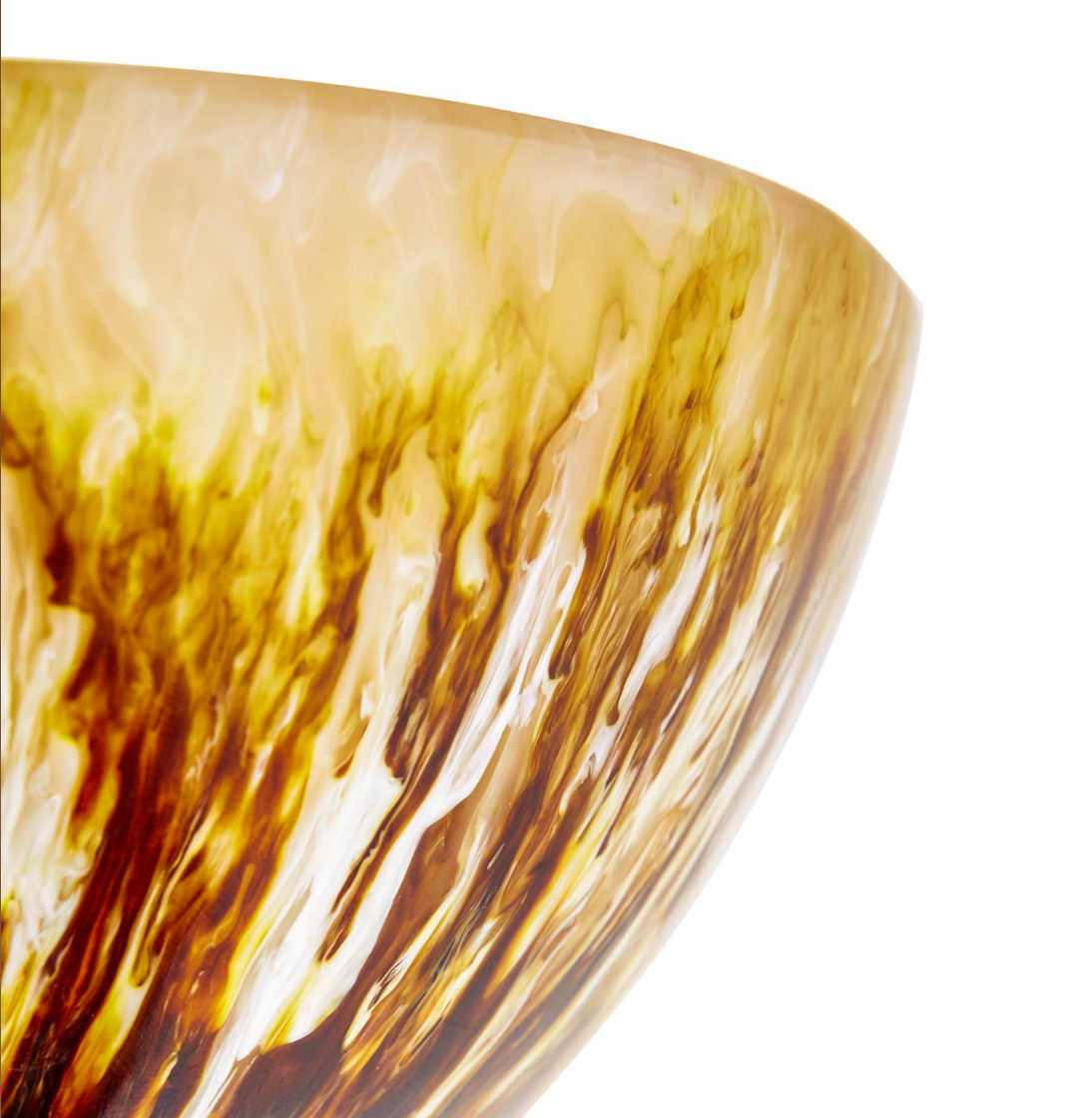 Resin Serving Bowl- Earth Tones