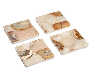 Agate Marble Coasters-Set of 4