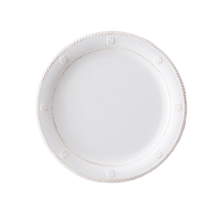 melamine white wash salad/dessert plate set/8