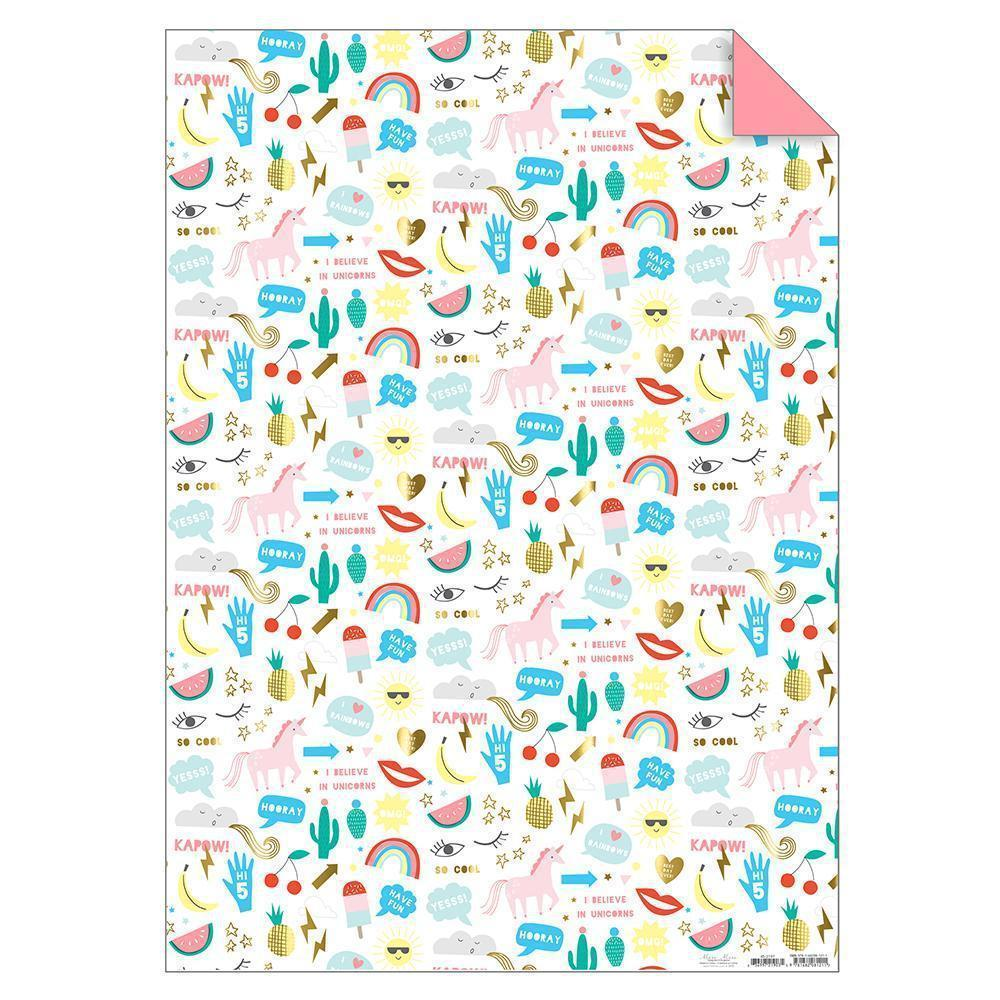 Icons Gift Wrap Sheet