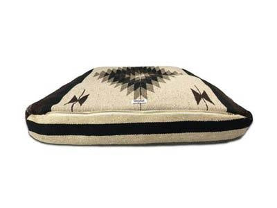 Boho Handmade Dog Bed-Black/Brown/Gray