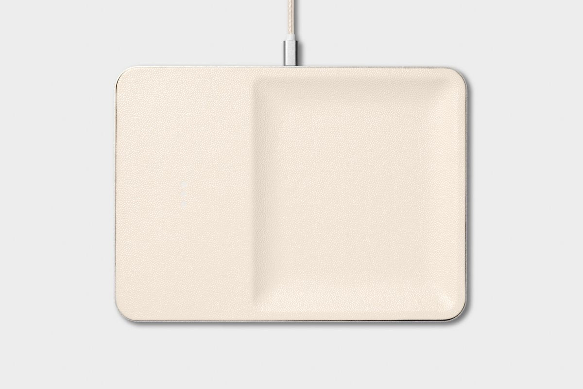 bone white wireless charger catchall