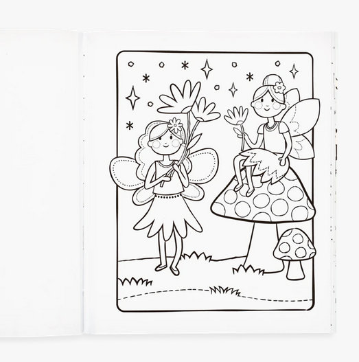 princesses & fairies coloring book