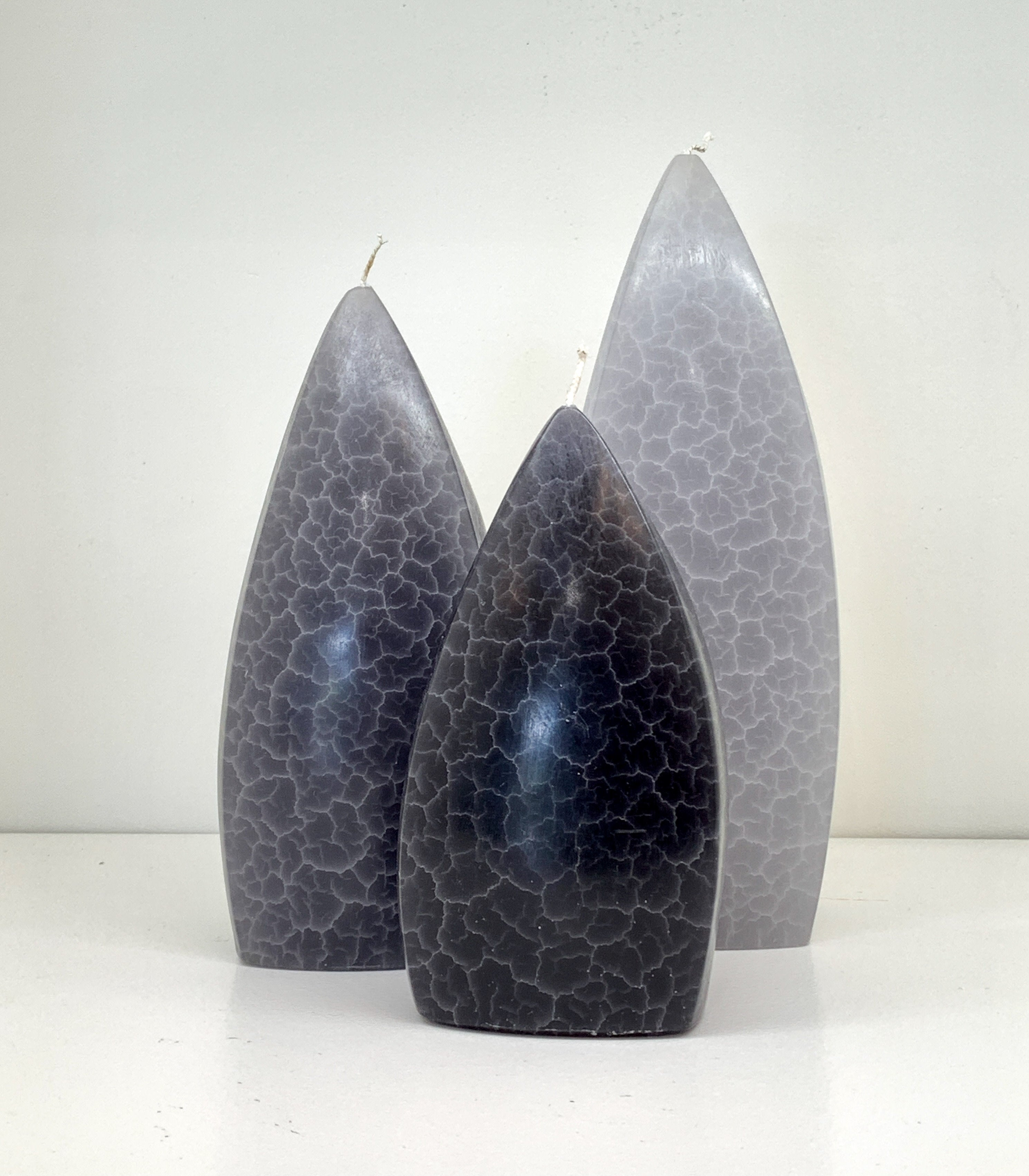 Free form Grey Candle