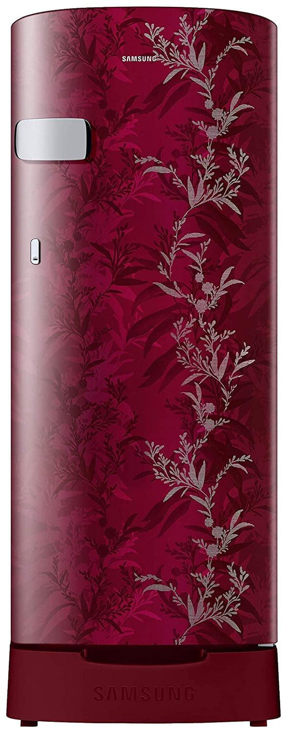Samsung 192 L 2 Star Direct-Cool Single Door Refrigerator (RR19T2Y1B6R/NL, Mystic Overlay Red)