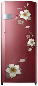Samsung 192 L 2 Star Direct-Cool Single Door Refrigerator (RR19T2Y1BR2/NL, Star Flower Red)