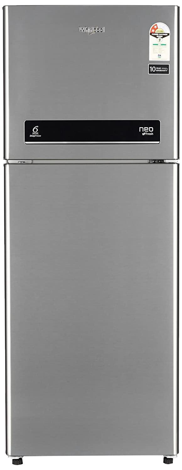 Whirlpool 245 L 2 Star (2019) Frost Free Double Door Refrigerator(NEO DF258 ROY ILLUSIA STEEL(2S), Illusia Steel)