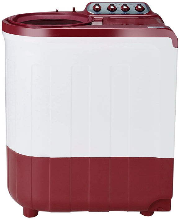 Whirlpool 8 kg 5 Star Semi-Automatic Top Loading Washing Machine (ACE SUPER SOAK 8.0, Coral Red, Supersoak Technology) 30133 - Kay Dee Electronics