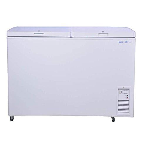 Voltas 405 L Hard Top Deep Freezer CF HT405DD P CONVERT PCM, White