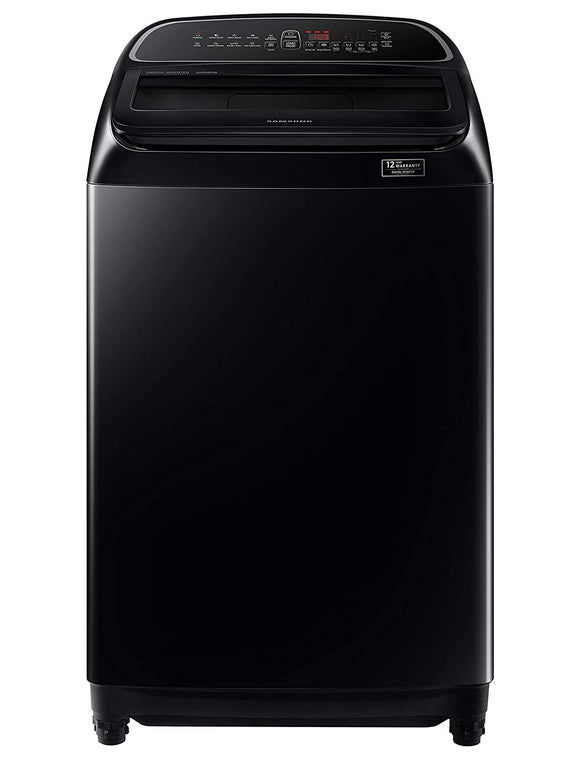 Samsung 10 Kg Inverter 5 star Fully-Automatic Top Loading Washing Machine (WA10T5260BV/TL, Black Caviar, Wobble technology)