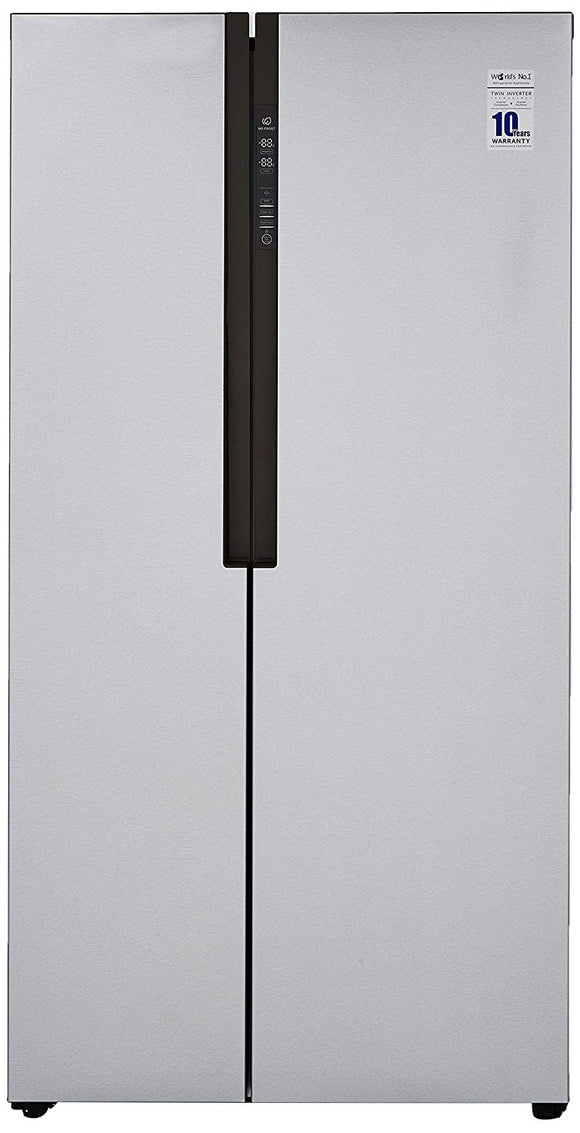 Haier HRF-619SS, 565 L Inverter Frost-Free Side-By-Side Refrigerator (Silver)